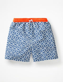 Duke Blue Geo Sea Fun Swim Trunks
