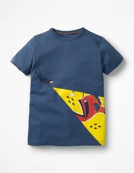 Lagoon Blue Diver Glow-in-the-dark Sea T-shirt