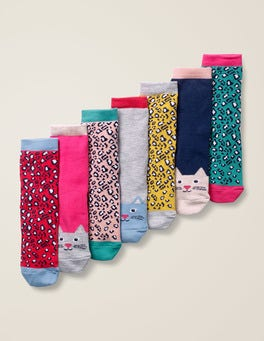 Cats 7 Pack Sock Box