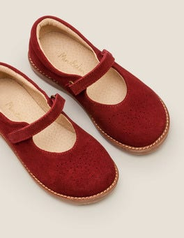 Bramble Red Leather Mary Janes