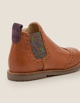 Hellbraun Chelsea-Boots aus Leder