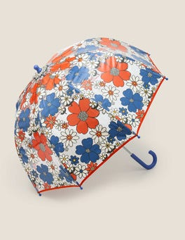 Mini Jumbo Sixties Floral Printed Umbrella