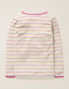 Multi Rainbow Supersoft Pointelle T-shirt