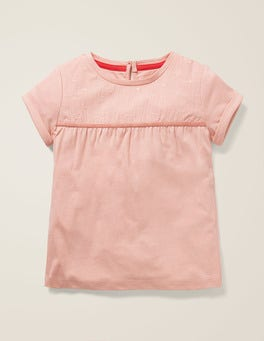 Provence Dusty Pink Star Embroidered Jersey Top