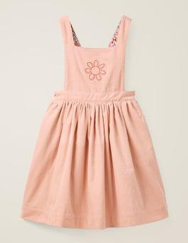 Rose poudré Provence/fleur Robe chasuble brodée