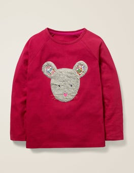 Bramble Red Mouse Animal Face T-shirt