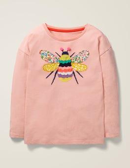 Provence-Altrosa, Biene T-Shirt mit großer Applikation