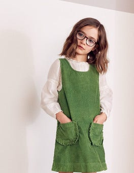 Pocket Cord Pinafore Dress