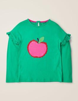 Asparagus Green Apple Colour-change Sequin T-shirt