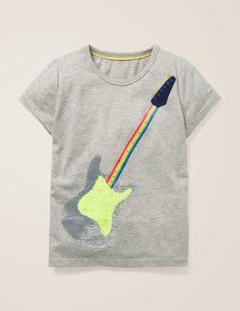 Grey Marl Guitar Colour-change T-shirt
