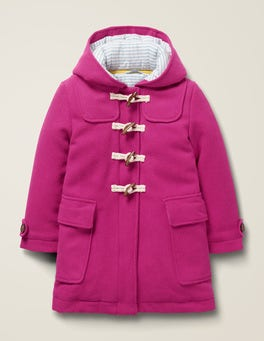 Shocking Pink Wool Duffle Coat