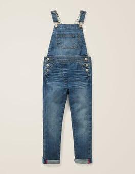 Mid Vintage Denim Skinny Fit Dungarees