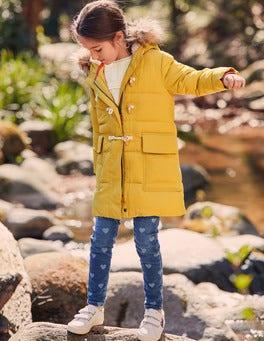 Lange Jacke mit Wattierung
