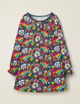 College Blue Sixties Rainbow Printed Tunic