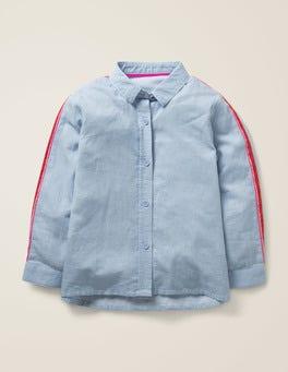 Provence-Blau, Feine Streifen Fröhliches Shirt