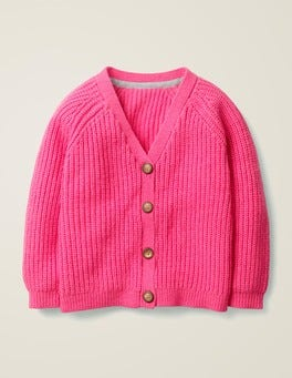 Pink Sorbet Chunky Knit Cardigan