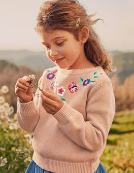 Embroidered Yoke Sweater