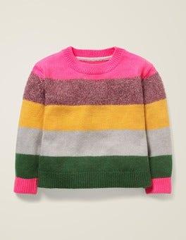 Multi Stripe Textured Knit Jumper