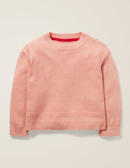 Chalk Pink Textured Knit Jumper