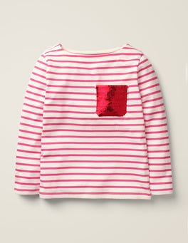 Ivory/Sorbet Pink London Fun Breton