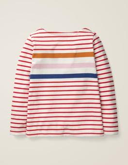 Poppadew Red Multi Stripe Everyday Breton
