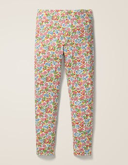 Chalky Pink Flower Berry Fun Leggings