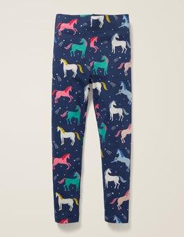 College Blue Unicorns Fun Leggings