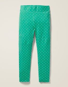 Asparagus Green Ivory Pin Spot Fun Leggings