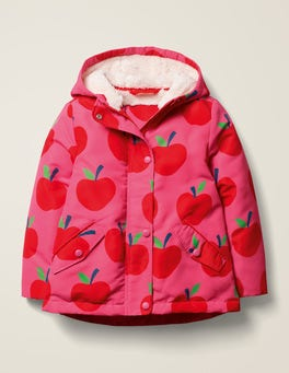 Pink Sorbet Apples Sherpa-lined Anorak
