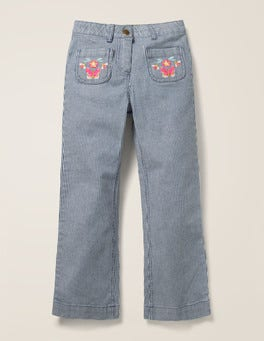 Embroidered Pocket Jeans