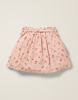 Provence Dusty Pink Star Sprig Tie-waist Pocket Skirt