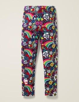 College Blue Sixties Rainbow Fun Cosy Leggings