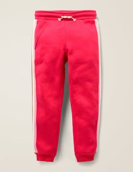 Carmine Red Stripe Detail Joggers