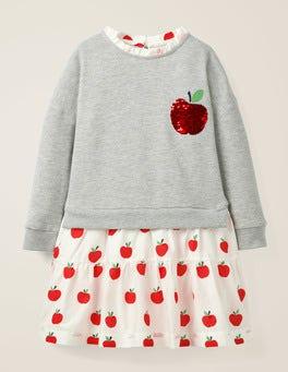 Grey Marl/Apples Colour-change Sequin Dress