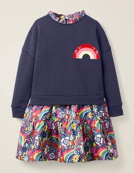 College Blue Sixties Rainbow Colour-change Sequin Dress