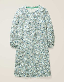 Naturweiß, Kleines Blumenmuster Gemustertes Nachthemd
