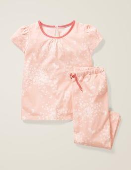Dusty Pink Butterfly Sprig Printed Pyjama Set
