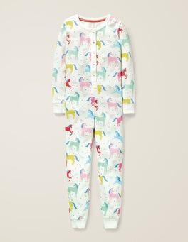 Bunt, Einhörner Bequemer einteiliger Schlafanzug