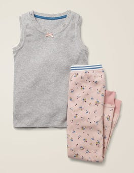 Provence-Altrosa, Blüten Schlafanzug-Set mit Weste