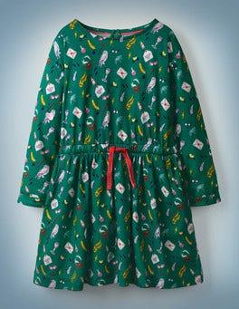 Mountain Meadow Green Hogwarts Printed Dress