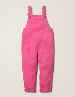 Pink Sorbet Relaxed Overalls
