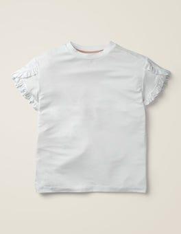 White Wrap Sleeve Top