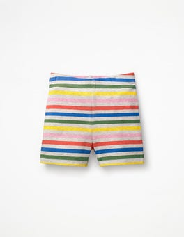 Grey Marl Rainbow Jersey Shorts