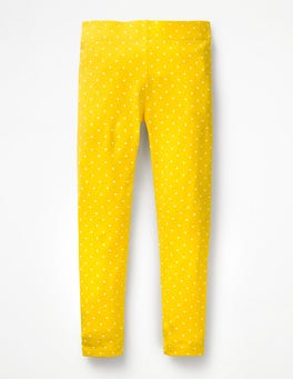Sunshine Yellow Pin Spot Stripe & Spot Leggings
