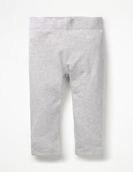 Grau MeliertKurz geschnittene einfarbige Leggings