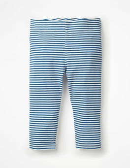 Elizabethan Blue/White Stripe & Spot Cropped Leggings