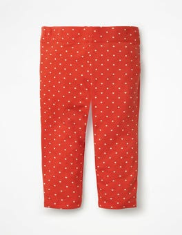 Beam Red Pin Spot Stripe & Spot Cropped Leggings