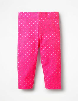 Festival Pink Spot Stripe & Spot Cropped Leggings