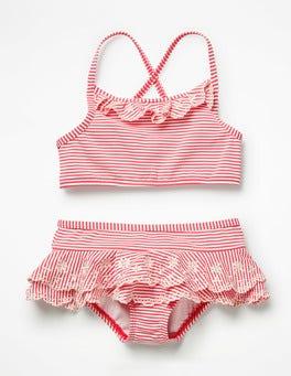 Ivory/Neon Grapefruit Orange Pretty Bikini Set