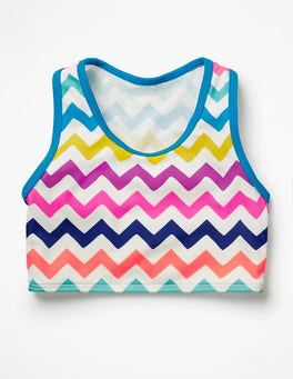 Rainbow Chevron Surf Bikini Top